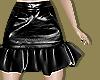 Leather Ruffle Hem Skirt