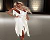 spring white satin dress