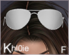 K silver sunglasses