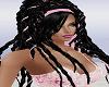 Black Dreadlocks w Pink