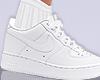 white Air kicks + sock M