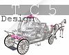 Wedding horse chariot