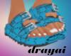Multi Color Blue Sandals