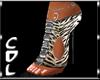 CdL Animal Print Sandals