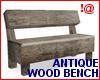 !@ Antique wood bench