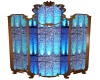 Blue Glass Room Divider