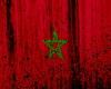 Morocco Flag Grunge Art