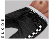$ black checker jeans
