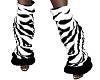*TM leg warmers zebra