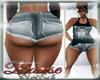 Grey Booty Shorts -bm-