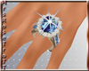 (RT)BLUE 2 WEDDING RING