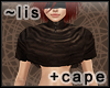 Short cape: leather
