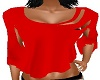 RED BACKLESS TOP