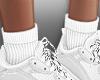 f. add on white socks