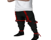 Black Red Tactical Pants