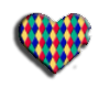 Harlequin heart Sticker