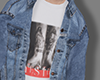 Denim jacket+t-shirt