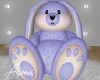 Bunny Toy| beige- blue