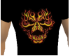 Flaming Skull T