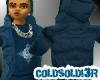 [LF] Blue Puffy Hoodie
