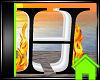 ! Animated Fire Letter H