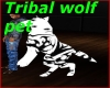 Tribal wolf pet