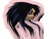 (M)BlueBlack Long Hair