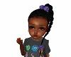 Kids ponytail purple bow
