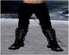 Dark Black Pants w Boots