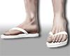 N| White Flip Flops