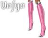 V| Pink & Metal Boots