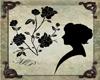 Silhouette Head & Flower
