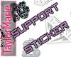 *T* Support Sticker