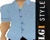LG1 Blue Linen Shirt