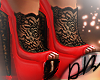 Red Lace Heels