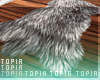 T. Grey Fur Rug