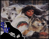 Woman & wolves