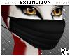 #pleated mask: black