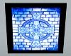 Blue Celtic Cross Poster