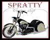 black cream motorcycle
