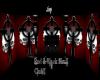 Red & Blk Skull Club