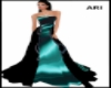 designer peacock gown