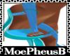 Electric Blue Strap Heel