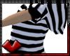 (V) White Stripes Hoodie