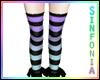 Purple Turquoise Socks