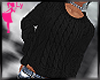 !L Black Cable Sweater