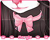 c; Mocha Bow Collar