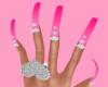 ❤ heart diamond nails