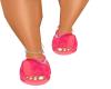 Pink Lv Buckle Slides