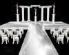 Wht Pink Wedding alter
